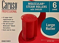 CARUSO  PROFESSIONAL MOLECULAR  STEAM ROLLERS WITH SHIELDS , (6-Pack) LARGE