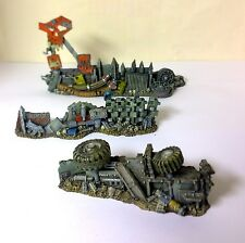 WARHAMMER 40000 40k  ORK BARRICADES SCENERY PRO PAINTED LOT 2 city of death