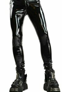 Skinny Lack Vinyl PVC Hose Pants Stretch Shiny