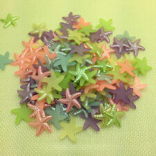 New 50Pcs 19mm Resin Starfish Beige Flat Back Scrapbooking For DIY Crafts Art
