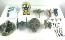 1990s Star Wars Micro Machines Lot Millennium Falcon Tie Fighter Vintage 38 Pcs