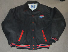 Vtg SportsChannel Corduroy Lined Jacket Retro  XL Sports Cable TV Fox Television