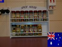 Spice Rack 16 jar SPICE HOUSE IN WHITE ( Made in Australia )