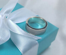 Tiffany & Co. Titanium Coin Edge Galaxy Gray Ring Size 9 Sterling Silver 925 TI
