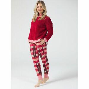 Cuddl Duds Sherpa Cosy PJ Set Pyjamas red Size Medium NWOT