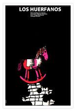 "Decor Graphic Design movie Poster""Orphans"" Horse Rocker.Art film.Children room."