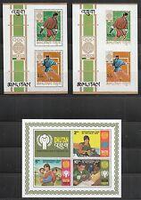 408) Bhutan: Partie Blöcke und Kleinbogen! 4 Scans!