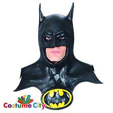 Adulti Classico Ufficiale DC Batman Maschera & Cappuccio Costume Accessorio