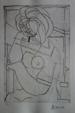 Limited edition CUBISM etching, Woman nude, signed Pablo Picasso w DOCS