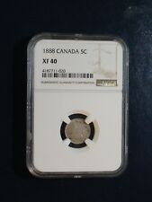 1888 Canada Five Cents NGC XF40 SILVER 5C Coin PRICED TO SELL QUICKLY!