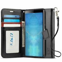 J&D Sony Xperia 10 Plus [Wallet Stand] PU Leather Flip Wallet Case