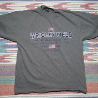 Chicago Cubs Shirt Adult Large Grey Wrigley Field Baseball MLB Mens