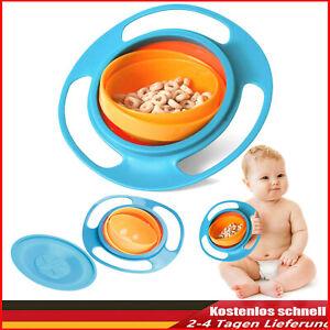 DE Baby Feeding Schüssel Dish Universal 360° Gyro Drehen Bowl Teller Anti-Spill