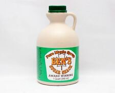 Ben's Sugar Shack New England Pure Maple Syrup - 1 Quart - Award Winning!
