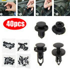 Set Of 40pcs Car Body/bumper Push Pin Rivet Retainer Trim Moulding Clip Parts