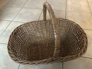 Traditional Strong Wicker Shopping Picnic Flower Basket 50x34x22cm