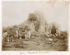 Indonésie, Java, Temple de Borobudur Vintage albumen print Tirage albuminé