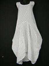 Vestiti da donna a pois bianco senza maniche