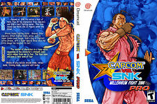 Capcom vs. SNK Pro CUSTOM SEGA DREAMCAST CASE (NO GAME)