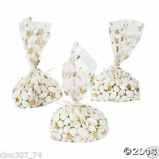 24 HOLLYWOOD Movie Awards Night Party Favor Goody Treat GOLD STAR Cello BAGS