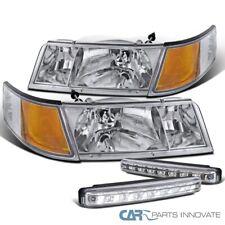 For 98-02 Mercury Grand Marquis Clear Headlights+Corner Lights+8-LED Fog Lamps