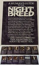 1990 Clive Barker promo brochure ~ HUMAN'S GUIDE TO THE NIGHT BREED Nightbreed
