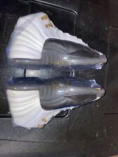 2013 Nike Air Jordan 12 Taxi White and Black Sz 6.5Y Women's Sz 8 GUC