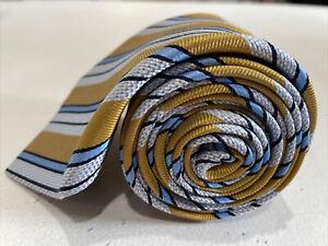 Hugo Boss Men's Gold Striped Silk Tie $150
