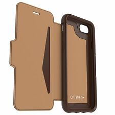 GENUINE iPhone 8 / 7 OtterBox Strada Folding Flip Case Cover 77-53974 - Brown