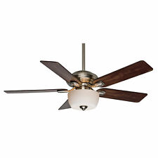 "Casablanca 52"" Indoor/Outdoor Ceiling Fan Utopian Gallery Brushed Nickel 54042"