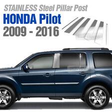 Stainless Steel Pillar Post Trim 6Pcs For HONDA Pilot 2009 - 2016