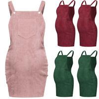 Ladies Women Pregnant Maternity Sleeveless Summer Solid Casual Strap Skirt Dress