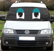VW Caddy Screen Cover Black Front Window Blind Curtain Wrap Frost Protect Eyes