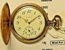 1905 14K Solid Gold Marked Waltham Seaside Working # 14499272, 15j, 6s, Mdl 1890
