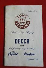 CATALOGO DECCA 1952