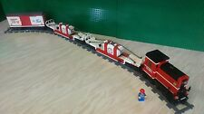 Lego Custom 3 Mile Island Train Set with  3 x Wagons & 9v Motor