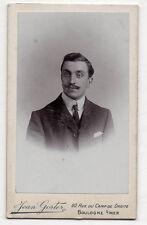 PHOTO - CDV - Homme Moustaches - JEAN GORTER - BOULOGNE SUR MER - Vers 1900.