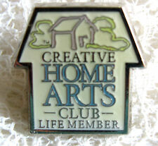 House Shaped Creative Home Arts Club Lifetime Member Pin