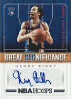 2018-19 Panini Hoops Henry Bibby Great Significance Auto