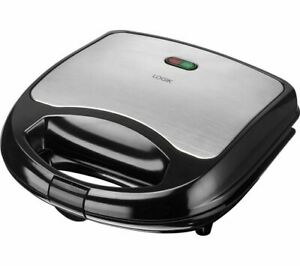 Stainless Steel 2 Slice Sandwich Toaster Non-Stick Plates Toastie Maker Machine
