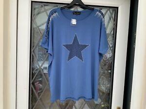 Frank Usher Star Top - Size L /XL Blue