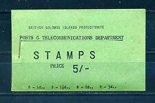 FOLLETO de 1960 británico Islas Salomón SB3 5s.