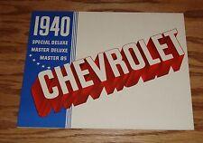 Original 1940 Chevrolet Deluxe Sales Brochure 40 Chevy Special Master 85