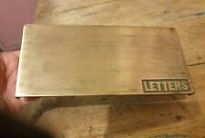Old/Vintage brass letters box 203mm x 99mm