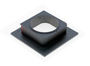 Luland lens board Linhof 99*96mm to SINAR 140mm Shutter Adapter-Front connection