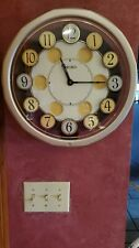 SEIKO SOUND  & MOTION TWIRLING NUMBERS CLOCK-RARE-PLAYS 7 MELODIES