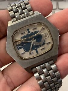 Used Men's Vintage Automatic Bulova Wrist Watch Parts or Repair!