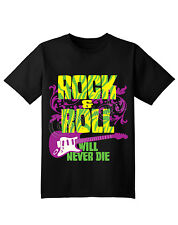 Rock and Roll T-Shirt,Cotton Blend, Short Sleeve, (Adult's Size: S,M,L,XL,)