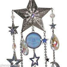 Kirks Folly Seaview Moon Midnight Realm Wind Chime hand enameled no 2 identical