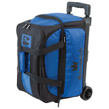 Brunswick Blitz Double Roller 2 Ball Bowling Bag Blue